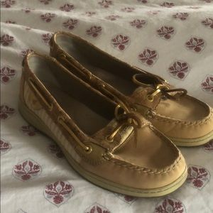 Sperry gold accent women's boat shoes